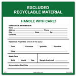 ERM (Excluded Recyclable Material) Label