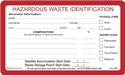 Satellite Accumulation Label | HCL Labels, Inc.