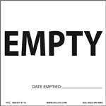 Empty Label with Date Emptied