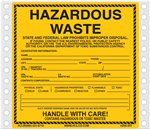Hazardous Waste Label Pinfed
