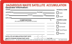 Custom Satellite Accumulation Labels