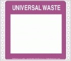 Universal Waste Blank Tyvek Pinfed Label | HCL Labels