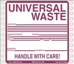 Universal Waste Tyvek Pinfed Label | HCL Labels