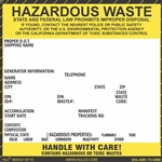Pinfed Hazardous Waste Label