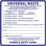 Universal Waste Label | HCL Labels