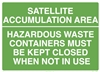 Satellite Accumulation Area Sign