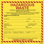 Hazardous Waste (Federal and New Jersey) LabelV