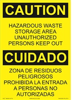 Hazardous Waste Storage Area Sign (Bilingual) |HCL