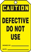 Caution Defective Do Not Use