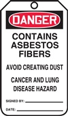 Danger  Contains Asbestos Fibers