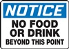 Notice Sign - No Food Or Drink Beyond This Point