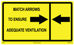 Match Arrows To Ensure Adequate Ventilation Label