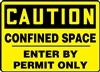 CautionConfined Space Enter By Permit Only