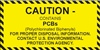 Caution Contains PCB's Label