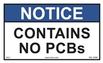 Notice Contains No PCB's Label