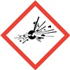 Exploding Bomb GHS Pictogram Label
