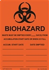 Biohazard Waste Accumulation Label
