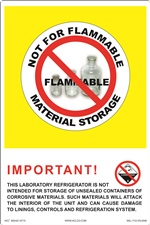 Not For Flammable Material Storage label