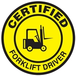 Certified Forklift Driver - Hard Hat Decal