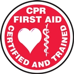 CPR/First Aid Certified and Trained - Hard Hat Decal