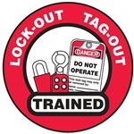 Lock-Out Tag-Out Trained - Hard Hat Decal