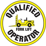 Qualified Fork Lift Operator - Hard Hat Decal