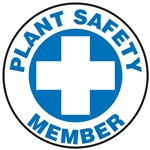 Plant Safety Member - Hard Hat Decal