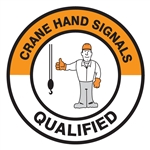 Crane Hand Signals Qualified - Hard Hat Decal