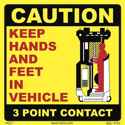 3 Point Contact Forklift Label