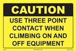 Caution - Use Three Point Contact When Climbing Equipment Label