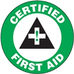 Certified First Aid - Hard Hat Decal
