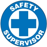 Safety Supervisor - Hard Hat Decal