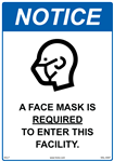 A Face Mask Is Required To Enter This Facility