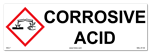 Corrosive Acid - Cabinet or Secondary Containment Sign
