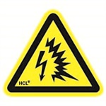 "Arc Flash Symbol - 2.19"" x 2"" Adhesive Vinyl Label"