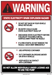 Warning - Static Electricity Spark Explosion Hazard Pump