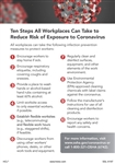 Ten Steps All Workplaces Can Take Sign