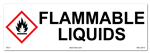 Flammable Liquids Cabinet or Secondary Containment Sign