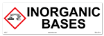 Inorganic Bases Cabinet or Secondary Containment Sign