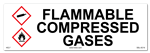 Flammable Compressed Gasses Cabinet or Secondary Containment Sign