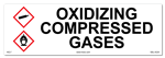 Oxidizing Compressed Gasses Cabinet or Secondary Containment Sign