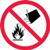 Do Not Extinguish With Water Safety Symbol