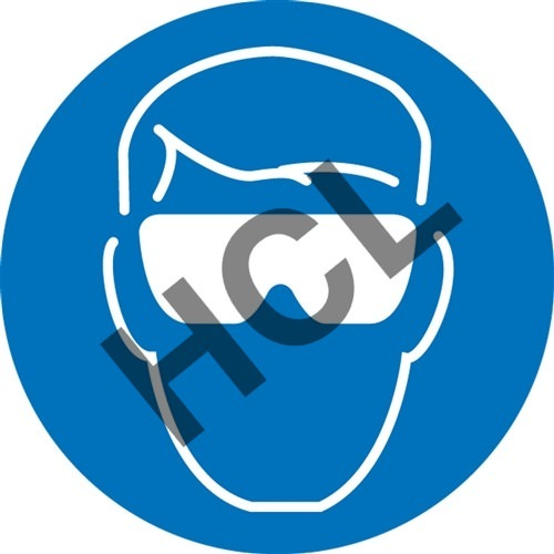 Wear Eye Protection Safety Symbol Hcl Labels