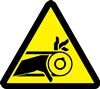 Belt Drive Entanglement Hazard Safety Symbol