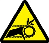 Chain Drive Entanglement Hazard Safety Symbol