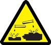 Corrosive/Acid Hazard Safety Symbol