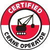 Certified Crane Operator - Hard Hat Decal