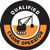 Qualified Crane Operator - Hard Hat Decal