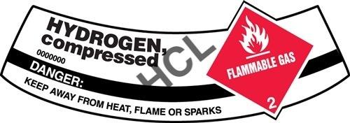 Hydrogen (Compressed Cylinder ) - Safety Label | HCL Labels