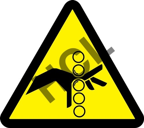 Iso Pinch Point Hazard Safety Label Hcl Labels